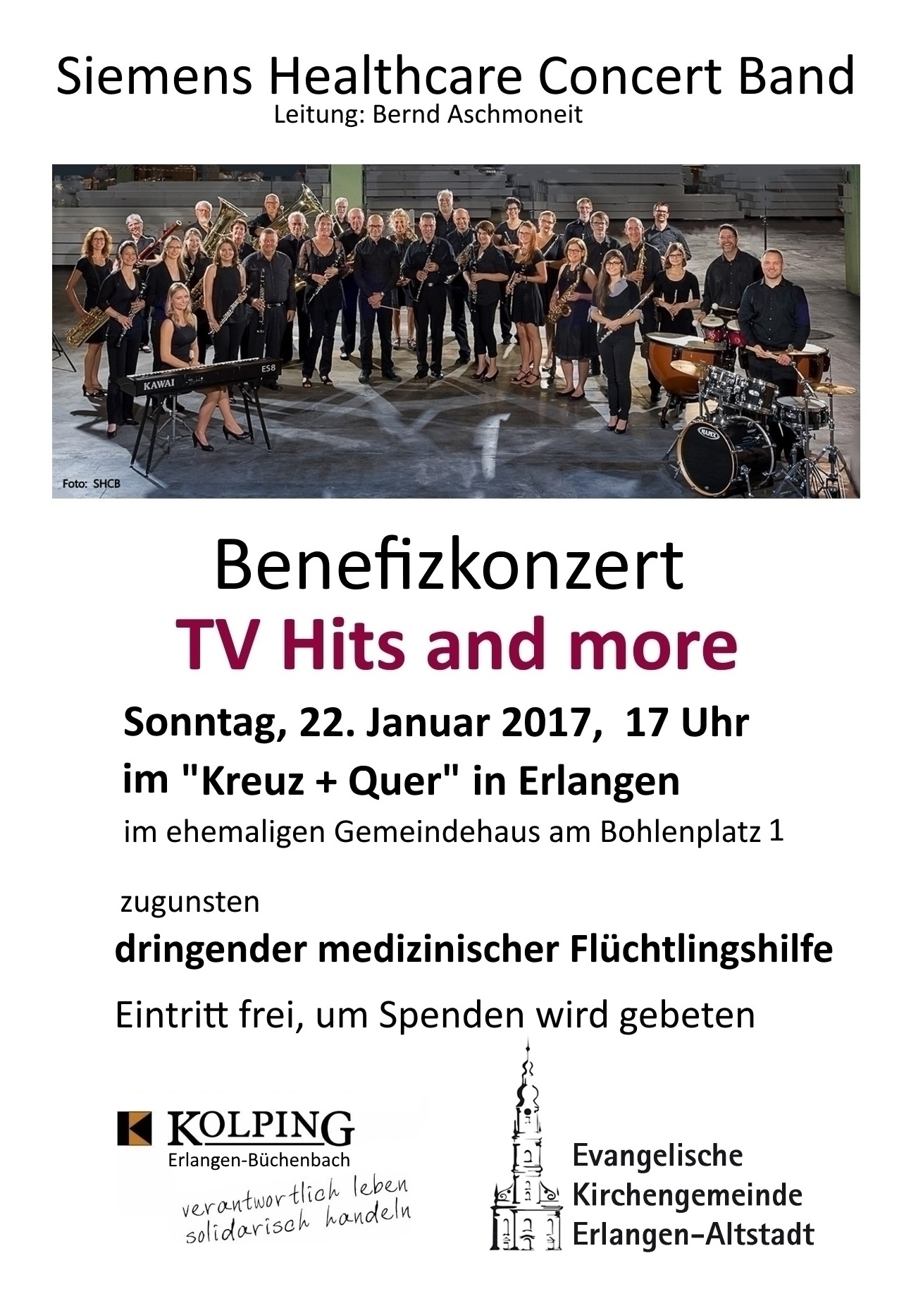 SHCB Flyer-Benefizkonzert TV-Hits and More 2017