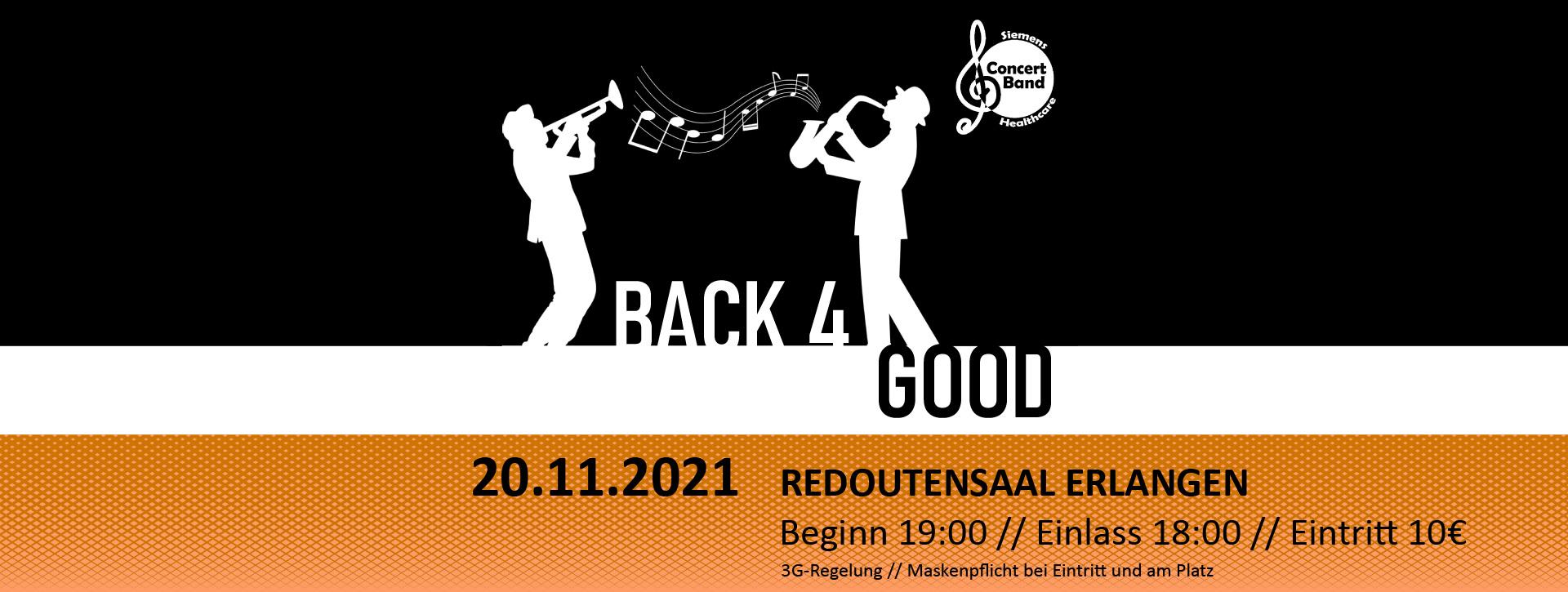 Jahreskonmzert 2021 - Back for Good - Redoutensaal